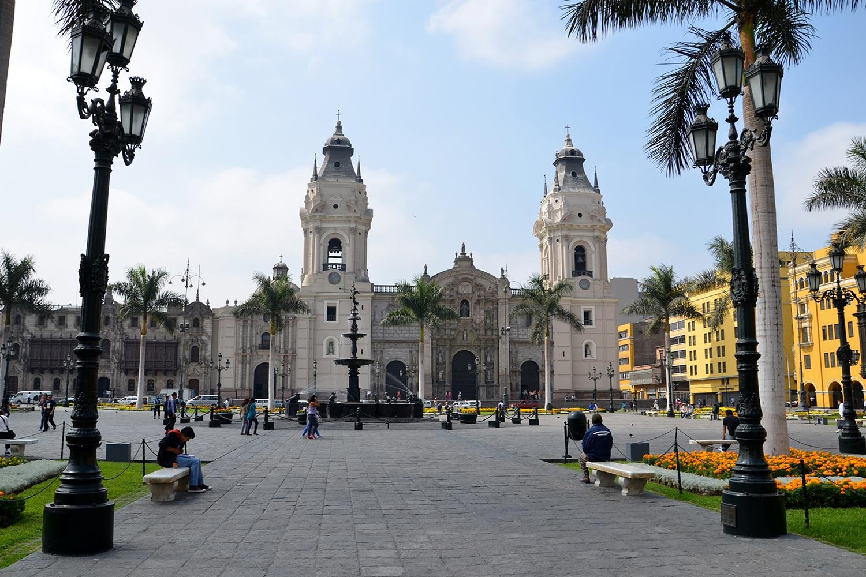 Plaza de Armas in Lima Center
