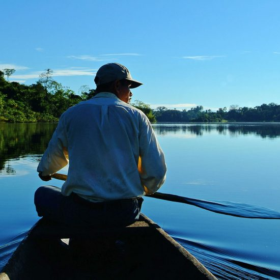 Canoe in the Amazon