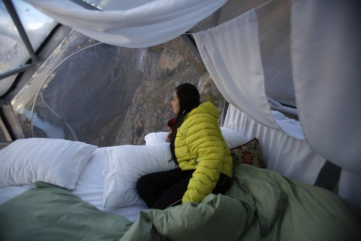 View from the suite - Skylodge Peru