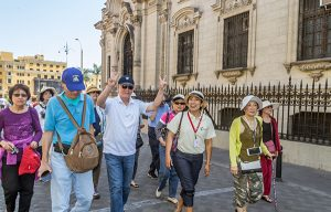 Tourists in Lima