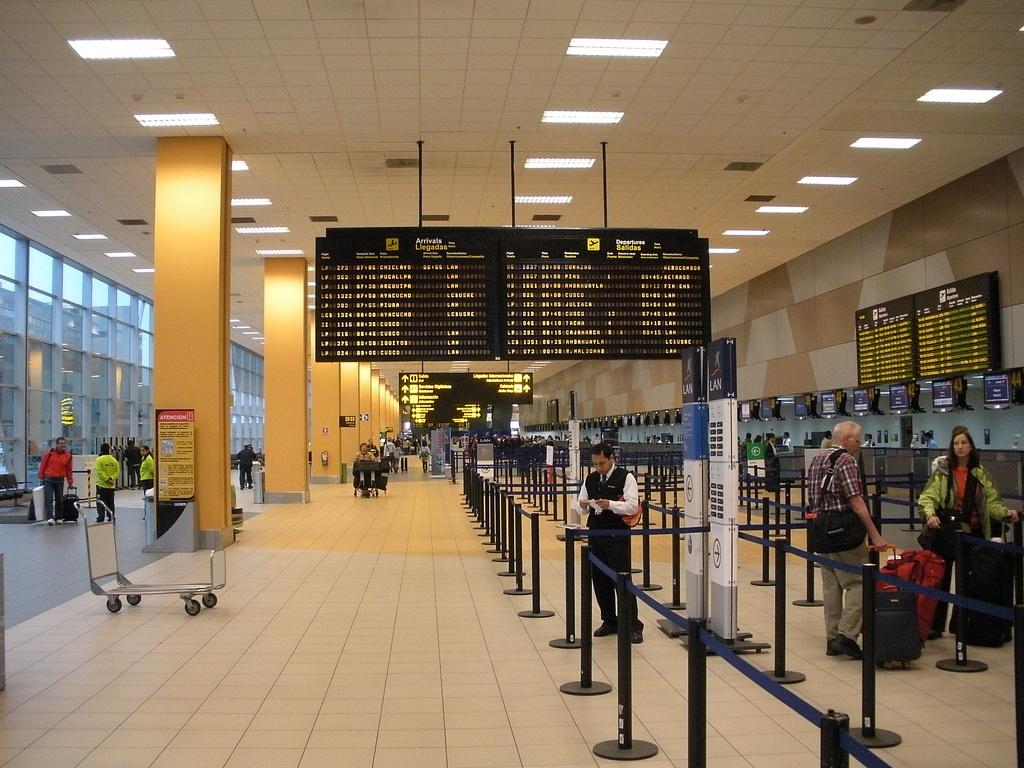 Flughafen Lima Ankunft